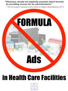Why Keep Infant Formula Marketing Out of Healthcare Facilities?